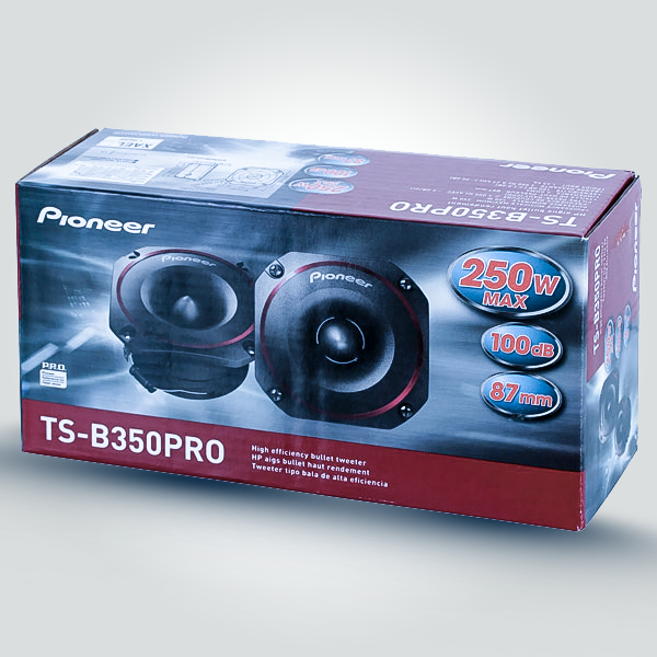 Pioneer TS-B350PRO Bullet Tweeters  250 Watts Max Power (100 Watts Nominal)