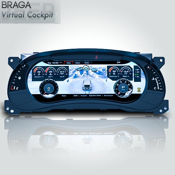 Jeep Wrangler JK Rubicon 2011 - 2018 Virtual Cockpit Digital Instrumental Cluster