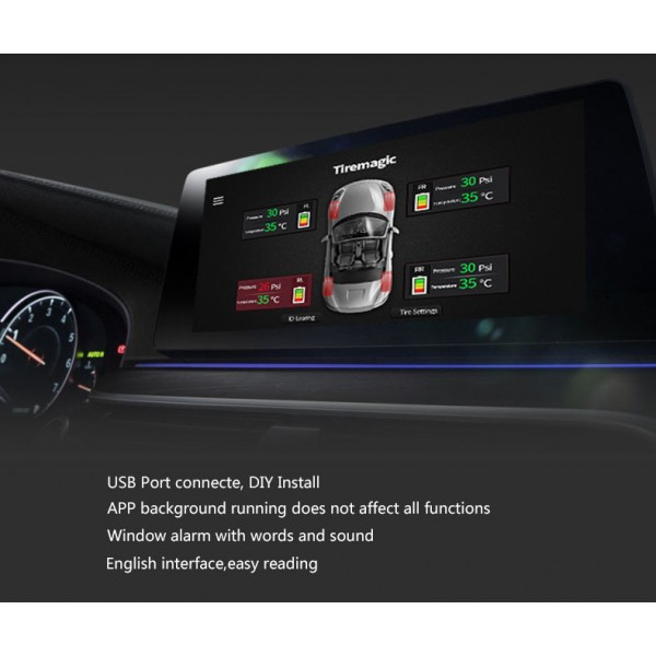 TPMS - Android Tyre Pressure Monitoring Sensors