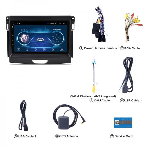 Ford Ranger T7 2016 - 2019 9 Inch Android Satnav Radio Car Audio Sound System