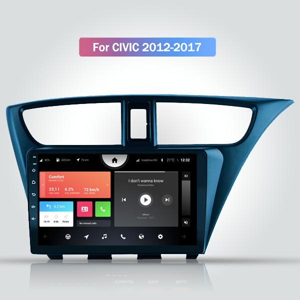 Honda Civic 2012 - 2017 9 Inch Android Bluetooth Navigation Radio