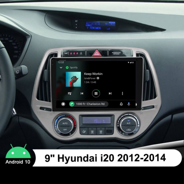 Hyundai I20 2012 - 2014 9 Inch Android Navigation Touch Screen
