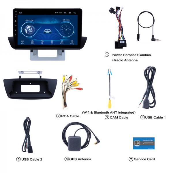 Mazda BT50 2012 -2017 7 Inch Android Multimedia Car Audio Sound System