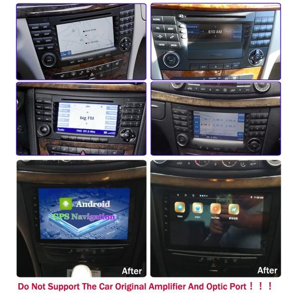 Mercedes Benz W211 E-Class/CLS W219/CLK W209/ G-Class W463 2001 - 2010 Android Satnav Radio Car Audio Sound System