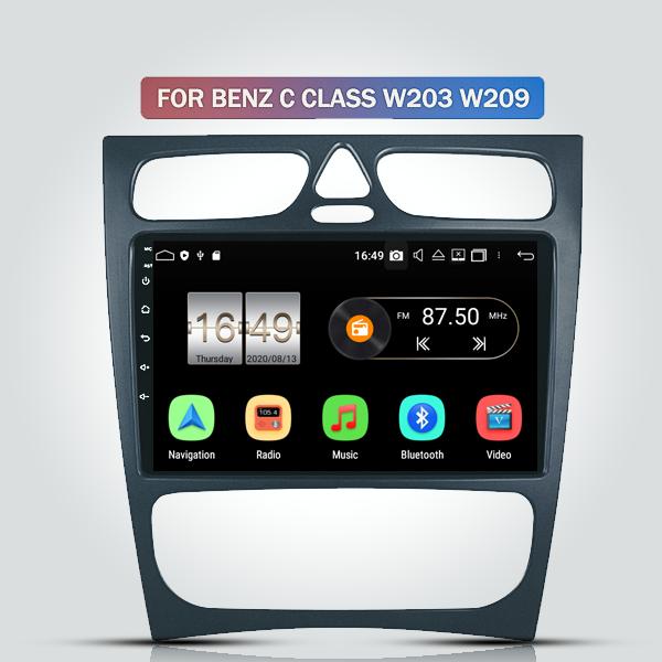 MERCEDES BENZ A-CLASS/C-CLASS/CLK/ML/VIANO 2000 - 2005 9 INCH ANDROID SATNAV RADIO CAR AUDIO SOUND SYSTEM
