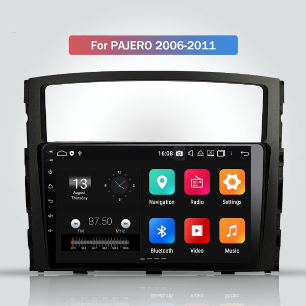 Mitsubishi Pajero Gen 4 2006 - 2011 9 Inch Android Touch Screen Radio