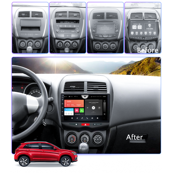 Mitsubishi ASX 2010 - 2015 10.1 Inch Android Multimedia Touch Screen Radio