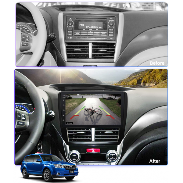 Subaru Forester 2008 - 2012 9 Inch Android Navigation Touch Screen Radio