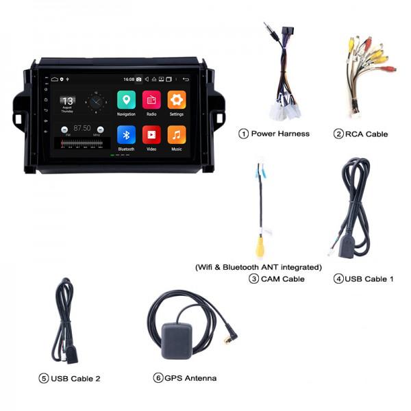 Toyota Fortuner 2016 - 2019 9 Inch Android Satnav Radio Car Audio Sound System