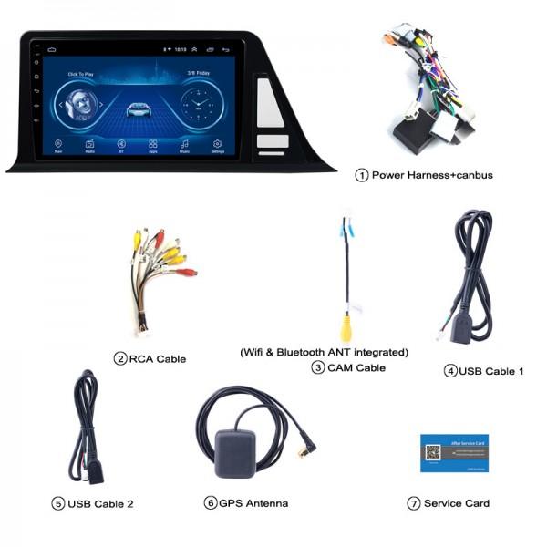 Toyota CHR 2016 - 2018 9 Inch Android Satnav Radio Car Audio Sound System