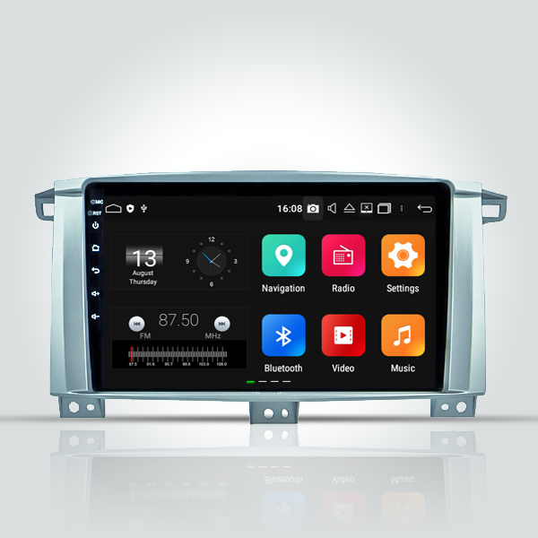 Toyota Land Cruiser 100vx 2005 - 207 9/10 Inch Android Navigation Radio Touch Screen