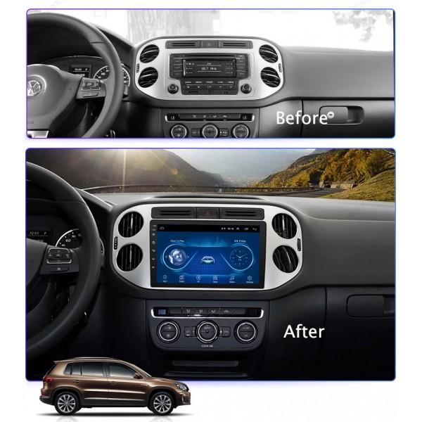 Volkswagen Tiguan 2010 - 2018 9 Inch Android Satnav Radio Car Audio Sound System